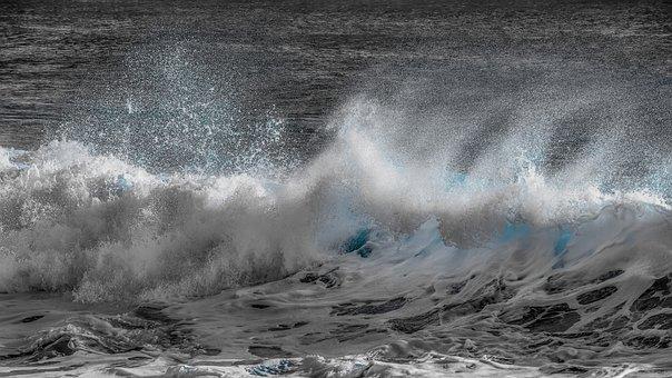 Water, Nature, Surf, Ocean, Spray, Foam, Splash, Wind
