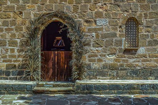 Church, Architecture, Wall, Old, Stone, Door, Window