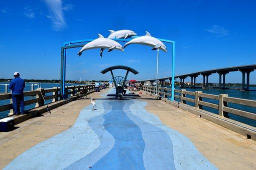 Fishing Pier, Tourism, Florida, Recreation, Pier