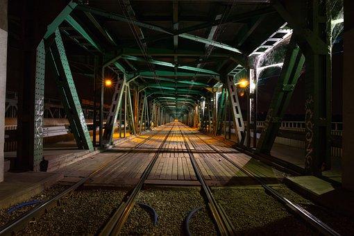Transport, Train, Bridge, Travel, Light, The Darkness