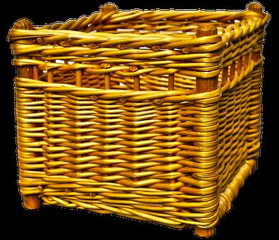 Wicker Basket, Basket, Woven, Basket Ware, Graze