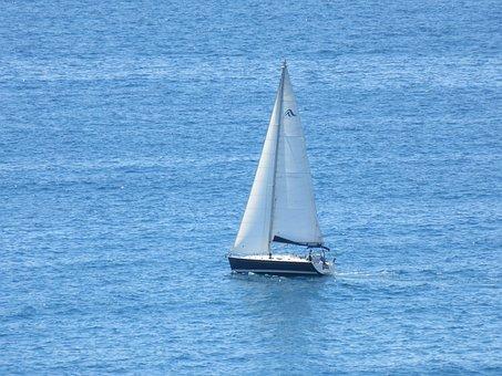 Sailboat, Sea, Ocean, Yacht, Boat