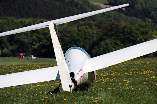 Glider, Meadow, Fly, Aircraft, Air Sports, Leisure
