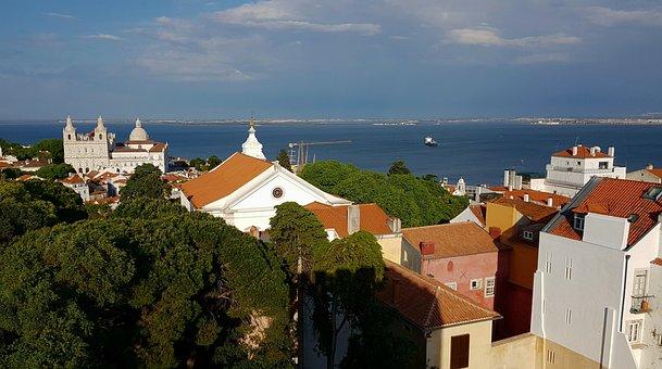 Lisbon, City View, City, Portugal, Alfama, Travel