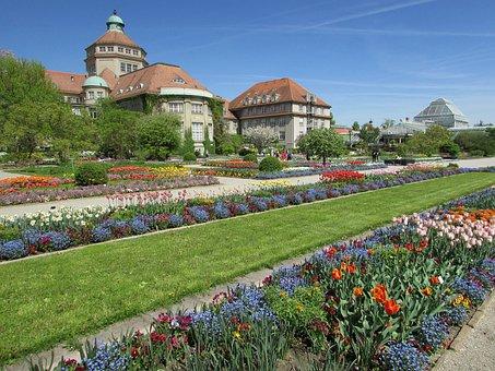 Botanical Garden, Botanical Garden Munich, Spring, Park