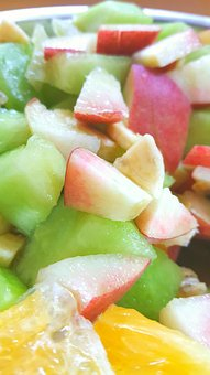 Fruit, Orange, Coctail, Peach, Cantalop, Banana, Colors
