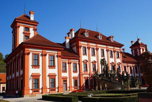 Chateau, Prague, Czechia, Architecture, Palace