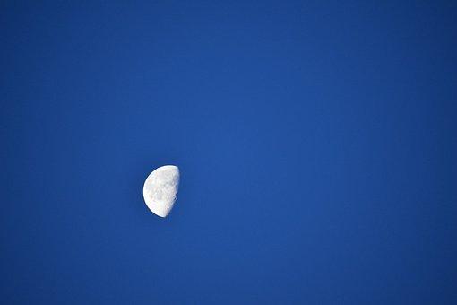 Sky, Moon, Nature, Outdoors, Space, Bright, Dark, Luna