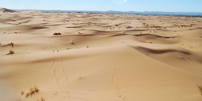 Desert, Morocco, Merzouga, Sand, Dunes, Berber