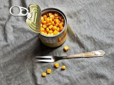 Eating, Can, Fork, Metal, Closeup, A Mess, Food, Eat