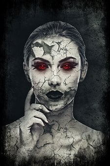 Girl, Woman, Face, Female, Spooky, Creepy, Weird, Scary