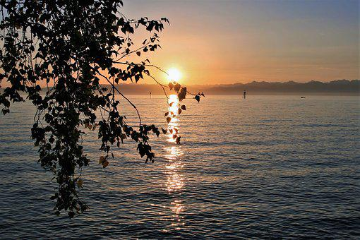Lake, Water, The Waves, Sunrise, Nature, Morning