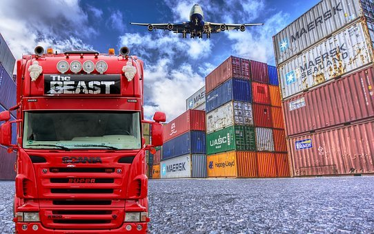 Logistics, Truck, Container, Plane, Shipping, Supply