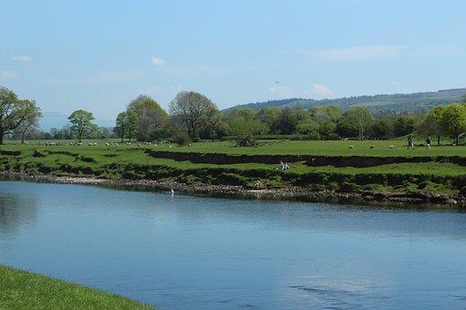 River, Lune, Lancashire, Water, Nature, Landscape