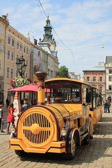 Tram, Excursion, Ukraine, Lviv, Market Square, Spring