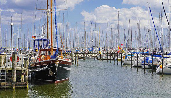 Baltic Sea, Marina, Maasholm, Schlei, Sailing Boats