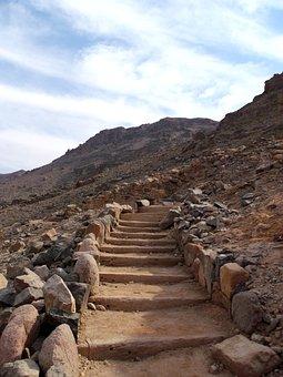 Stairs, Mountain, Stone, Path, Staircase, Way, Jordan