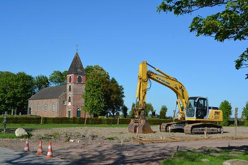 Landscape Polder, Old Church, Municipality Of Bunde