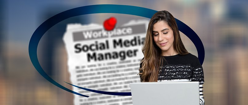 Social, Media, Manager, Online, Woman, Organization