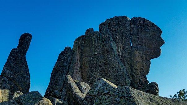 Nature, Rock, Sky, Panoramic, Travel, Stone, Granite