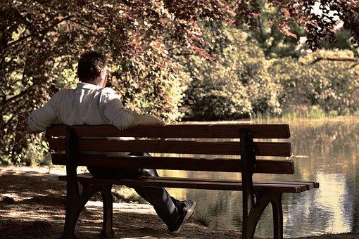 Bank, Park Bench, Sit, Pensioners, Outlook, Rest, Enjoy