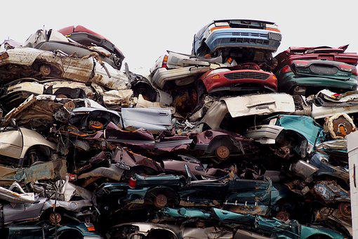 Junk Yard, Cars, Yard, Junk, Old, Metal, Recycling