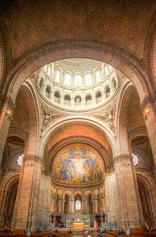Church, Interior, Hdr, Columns, Religion, Christian