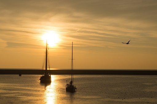 Sailing, Sunset, Lake, Sea, Boat, Ocean, Travel, Sail