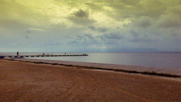 Body Of Water, Sand, Beach, Sea, Nature, Costa, Sunset