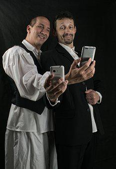 Selfie, Smile, Photo, Men, Fun, Peasant, Pair, Phone