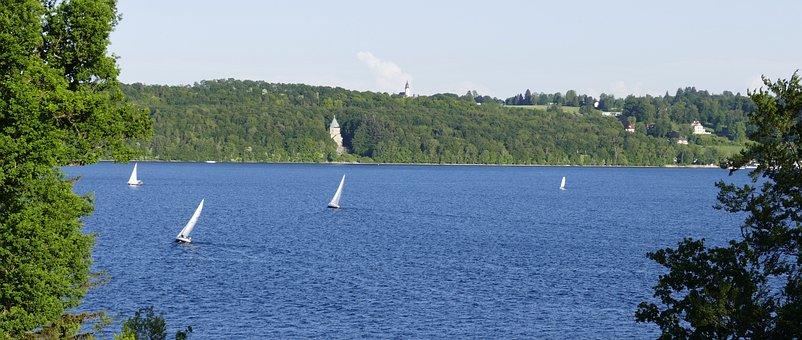 Starnberger See, Lake, Water, Summer, Bavaria, Bank