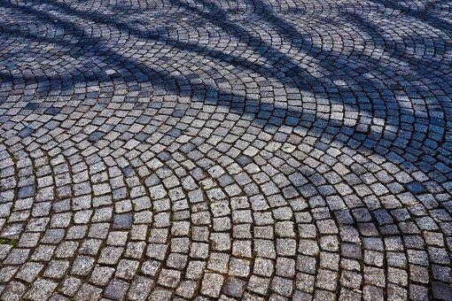 Cobblestone, Patch, Road, Stones, Away, Cobblestones
