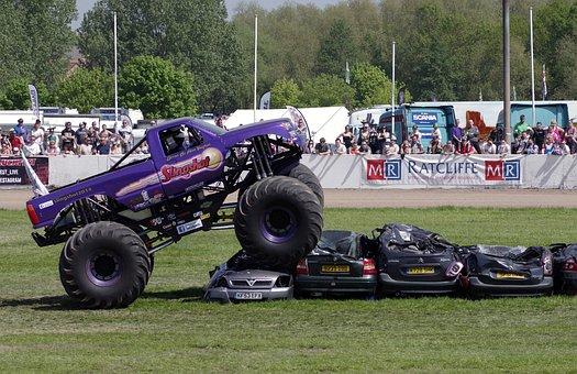 Monster Truck, Jump, Stunt, Slingshot, Truck Fest