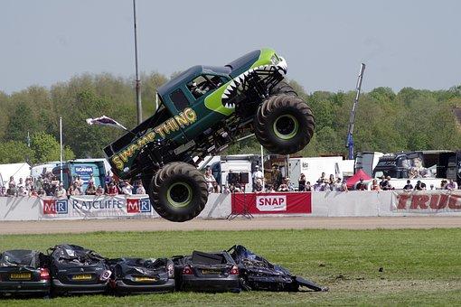 Monster Truck, Jump, Stunt, Swampy, Truck Fest, Crush