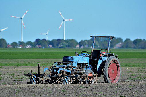 Agriculture, Farm, Machine, Tractor, Field, Arable