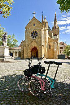 Bikes, Church, Travel, Landmark, Bicycle, Cathedral