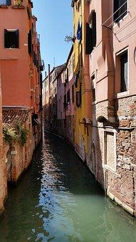 Italy, Venice, Landscape, Water, Gondolas, Holiday