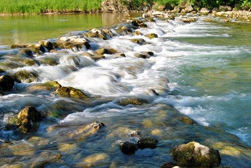 Water, Waterfall, Barrage, Cases, Splash, Water Lens