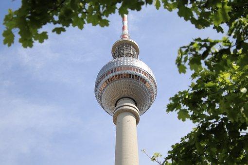 Tv Tower, Berlin, Alexanderplatz, Capital, Germany