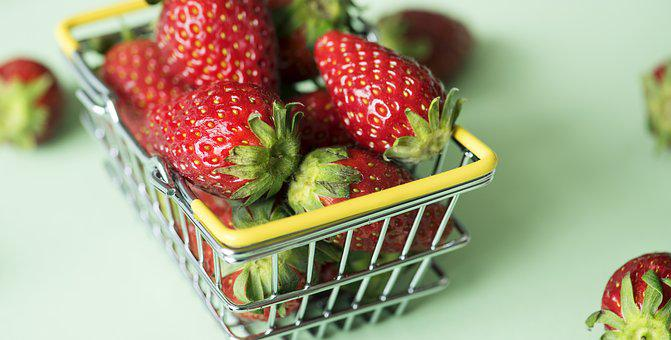 Basket, Berry, Breakfast, Bright, Bunch, Cart, Close Up