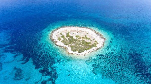 Adriatic, Aerial, Blue, Bright, Clear, Dalmatia, Dark