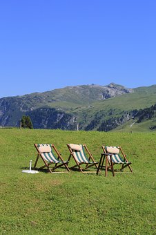 Mountains, Deck Chair, Chairs, Leisure, Holiday