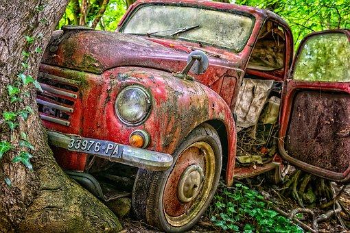 Pkw, Accident, Tree, Destroyed, Auto, Damaged, Damage