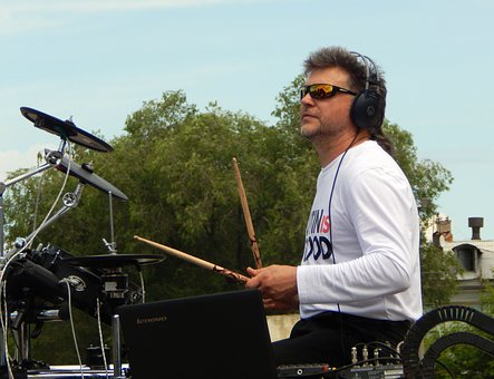 Musician, Rock, Rock-group, Drummer, Drum Set, Drum
