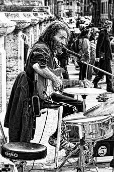 Musician, Guitar, Instrument, Drums, Bridge