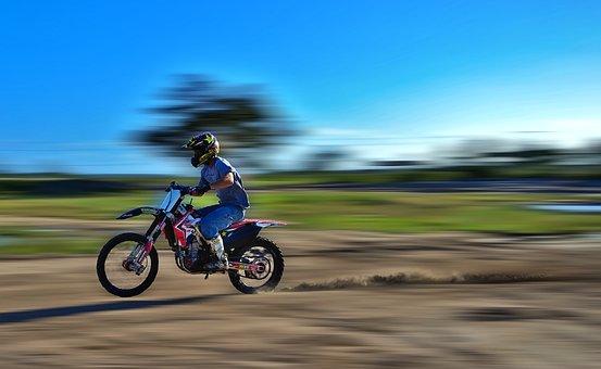Speed, Fast, Motocross, Dirt Bike, Power, Dust, Rider