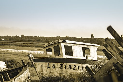 Old, Fishing Vessel, Port, Sea