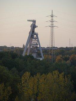 Ruhr Area, Gelsenkirchen, Headframe, Bill, Mining