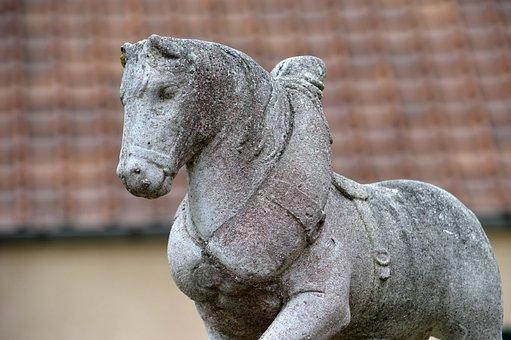 Horse, Labour, A Workhorse, Concrete, Statue