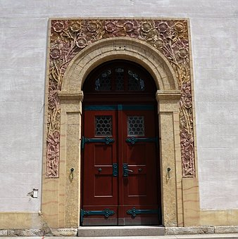 Church, Input, Art Nouveau, Door, Religion